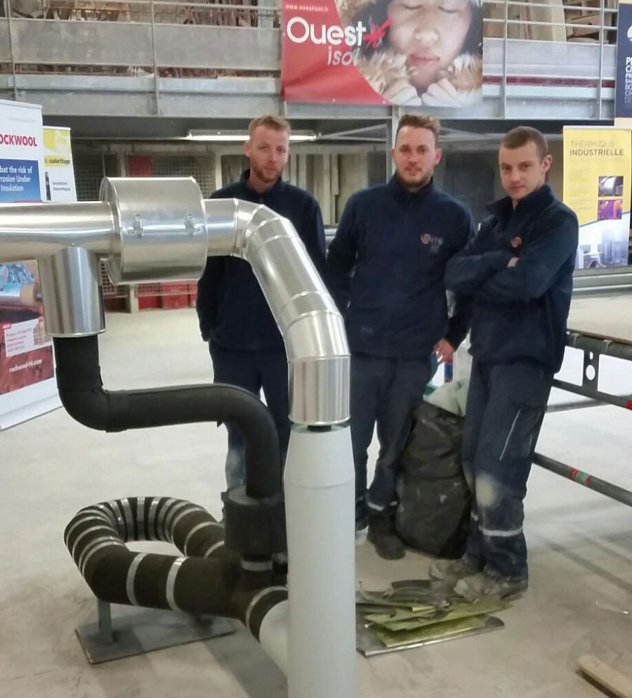 Les 3 participants ITB france du concours du meilleur ouvrier de France section calorifugeage